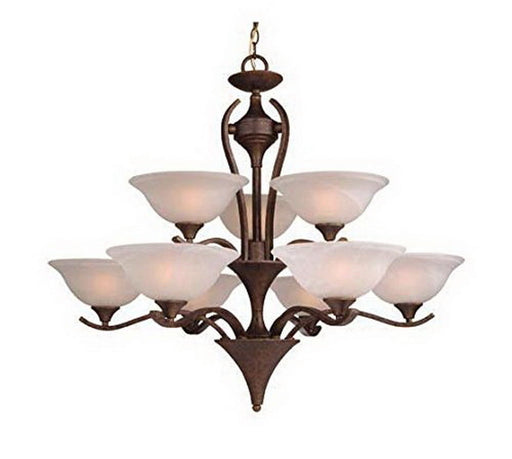 Vaxcel Lighting CH27609 WP Nine Light Hanging Chandelier in Weathered Patina Finish - Quality Discount Lighting