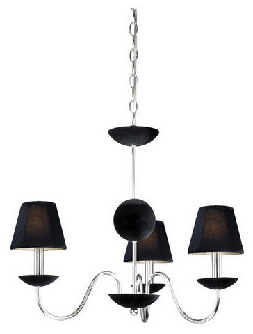 Vaxcel Lighting MACHU003 CH Three Light Hanging Chandelier in Polished Chrome Finish - Quality Discount Lighting