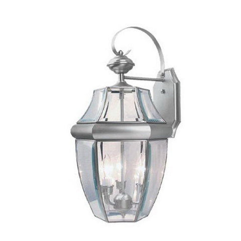 Vaxcel Lighting OW6213 BN Three Light Outdoor Wall Lantern in Brushed Nickel Finish - Quality Discount Lighting