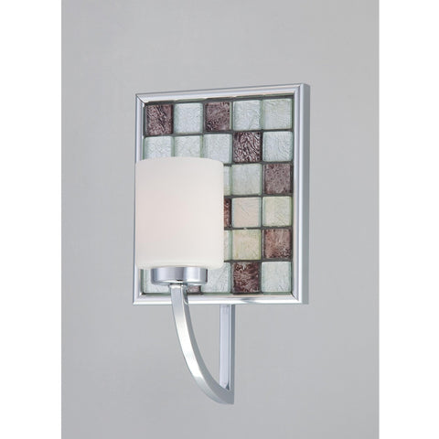 Quoizel Lighting VTRT8601C Vetreo Retro Collection One Light Wall Sconce with LED Nightlight in Polished Chrome Finish - Quality Discount Lighting