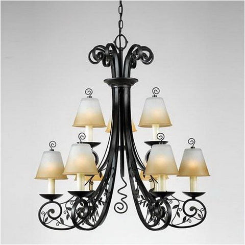 Quoizel Lighting WX5009IB Winslet Collection Nine Light Two Tier Chandelier in Imperial Bronze Finish - Quality Discount Lighting