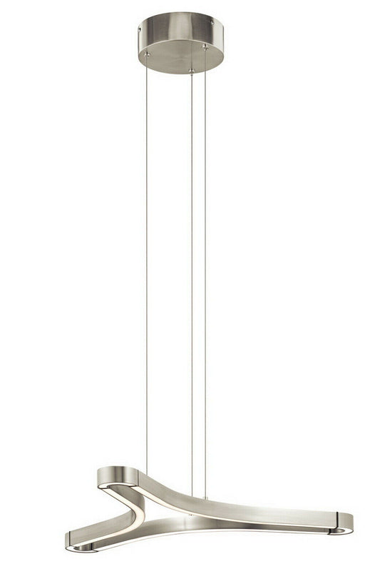Elan by Kichler Lighting 83696 Zell Collection LED Hanging Pendant Chandelier in Satin Nickel Finish