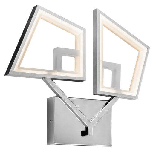 Elan by Kichler Lighting 83419 Zium Collection LED Wall Sconce in Chrome and Brushed Aluminum Finish