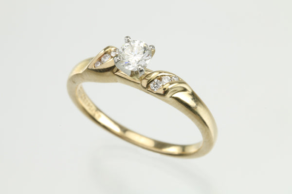 1/4ctw Diamond G-H SI1 14kt Gold Ring
