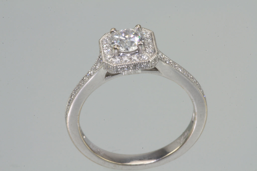 Diamond Halo Style 3/4ct Engagement Ring G SI1