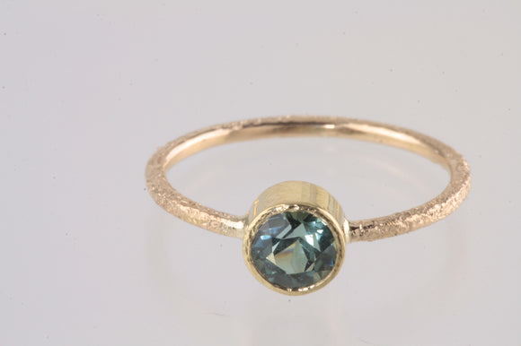 .91ct Green Tourmaline 18kt Gold Ring