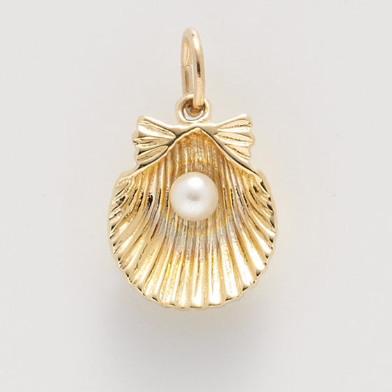 Shell With Pearl Charm #0508