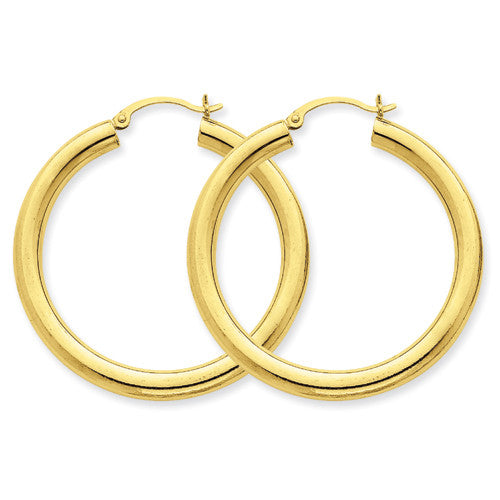 14Kt Gold Hoop Tube Earrings
