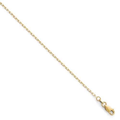14kt Yellow Gold 1.6mm Open Long Open Cable Link Chain