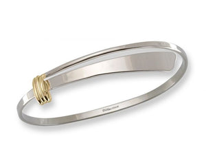 Ed Levin Sterling Silver and 14kt Gold Two Tone Slide Bracelet