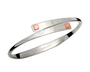 Ed Levin Sterling Silver and 14kt Rose Gold Square Swing Bracelet