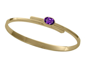 Ed Levin 14kt Gold Urban Swing Gemstone Bracelet