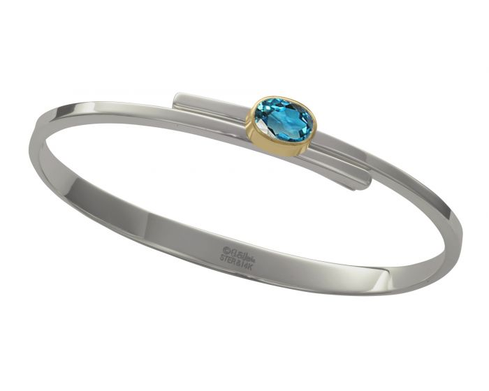 Ed Levin Urban Swing Silver and 14kt Gold Bracelet
