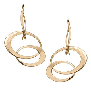 Ed Levin 14kt Gold Entwined Elegance Earrings