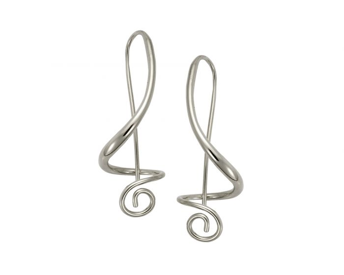 Ed Levin Sterling Silver Symphony Earrings