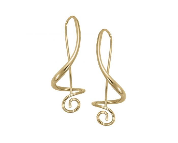 Ed Levin Sterling Silver and Gold Overlay Symphony Earrings