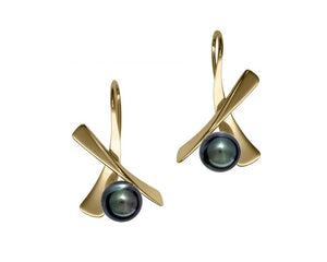 Ed Levin Minuet 14kt Gold Pearl Earrings