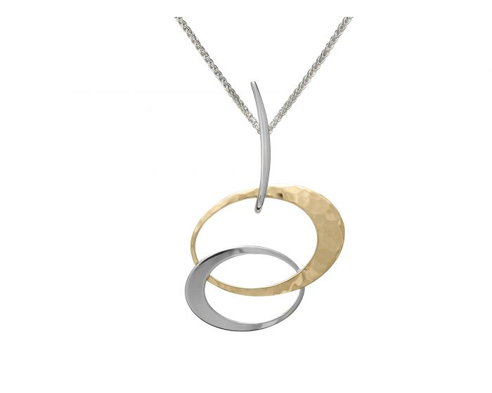 Ed Levin Silver and Gold Overlay Entwined Elegance Pendant