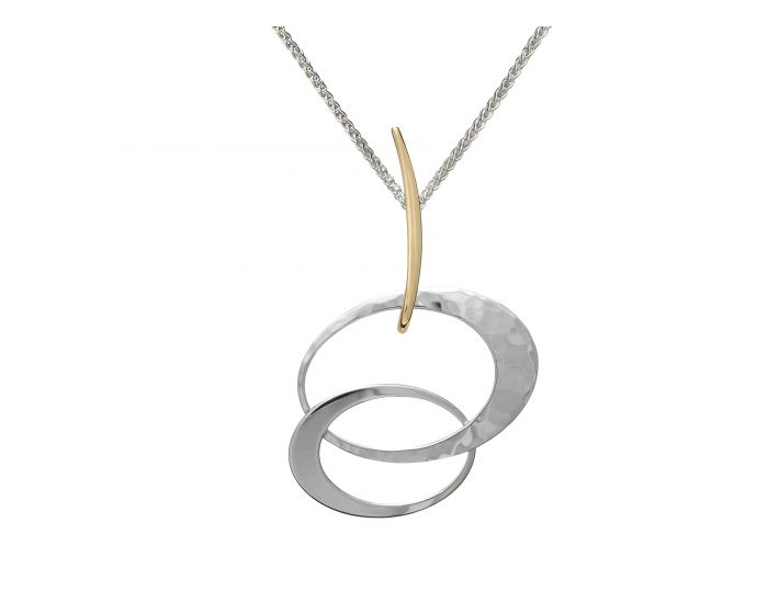 Ed Levin Silver and 14kt Gold Entwined Elegance Pendant