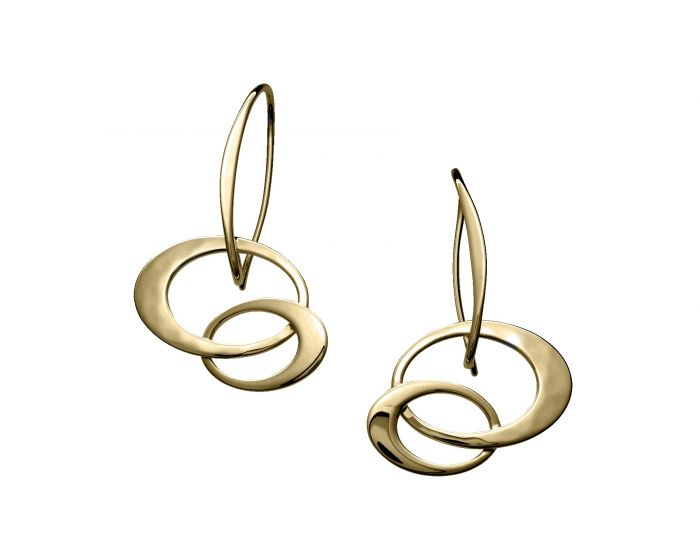 Ed Levin 14kt Gold Petite Entwined Elegance Earrings