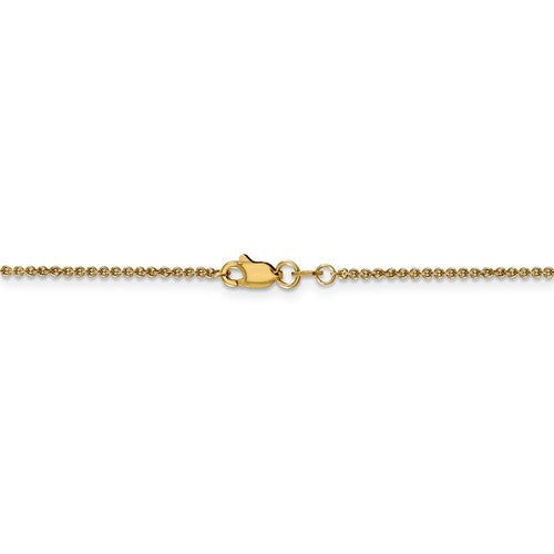 Leslies 14kt Yellow Gold 1.6 mm Flat Cable Chain