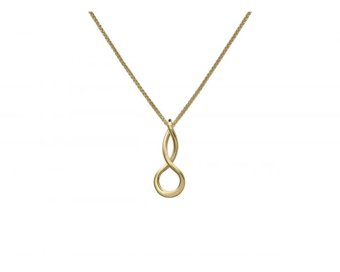Ed Levin 14kt Gold Infinity Pendant