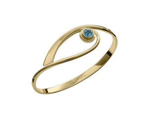 Ed Levin 14kt Gold Tender Swing Gemstone Bracelet