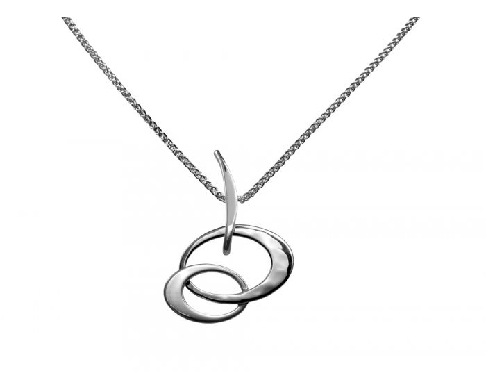 Ed Levin Sterling Silver Petite Entwined Elegance Pendant