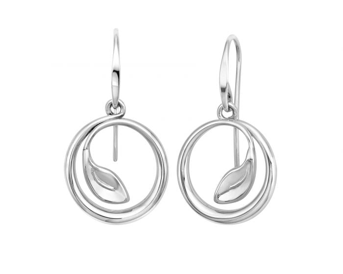 Ed Levin Be-Leaf Sterling Silver Earrings