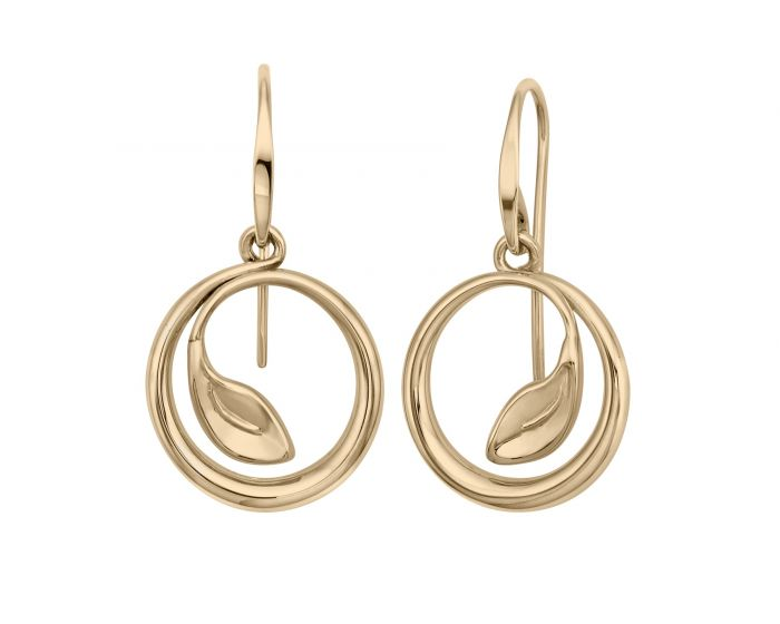 Ed Levin Be-Leaf 14kt Gold Earrings