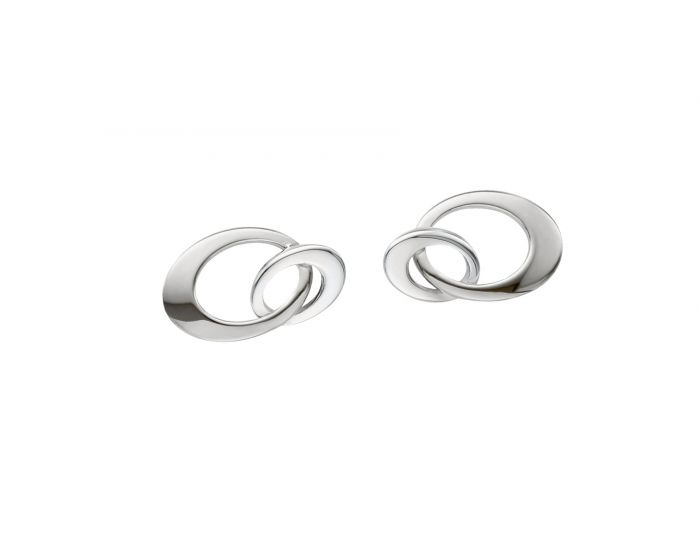 Ed Levin Sterling Silver Entwined Mini Earrings