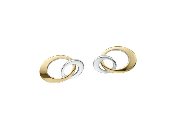 Ed Levin 14kt Gold Entwined Mini Earrings