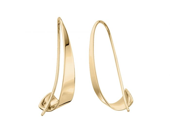 Ed Levin 14kt Gold Windswept Earrings