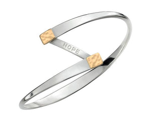Ed Levin Sterling Silver and 14kt Gold Hope Bracelet