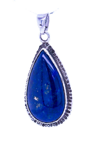 Tree of Life Lapis Sterling Silver Pendant
