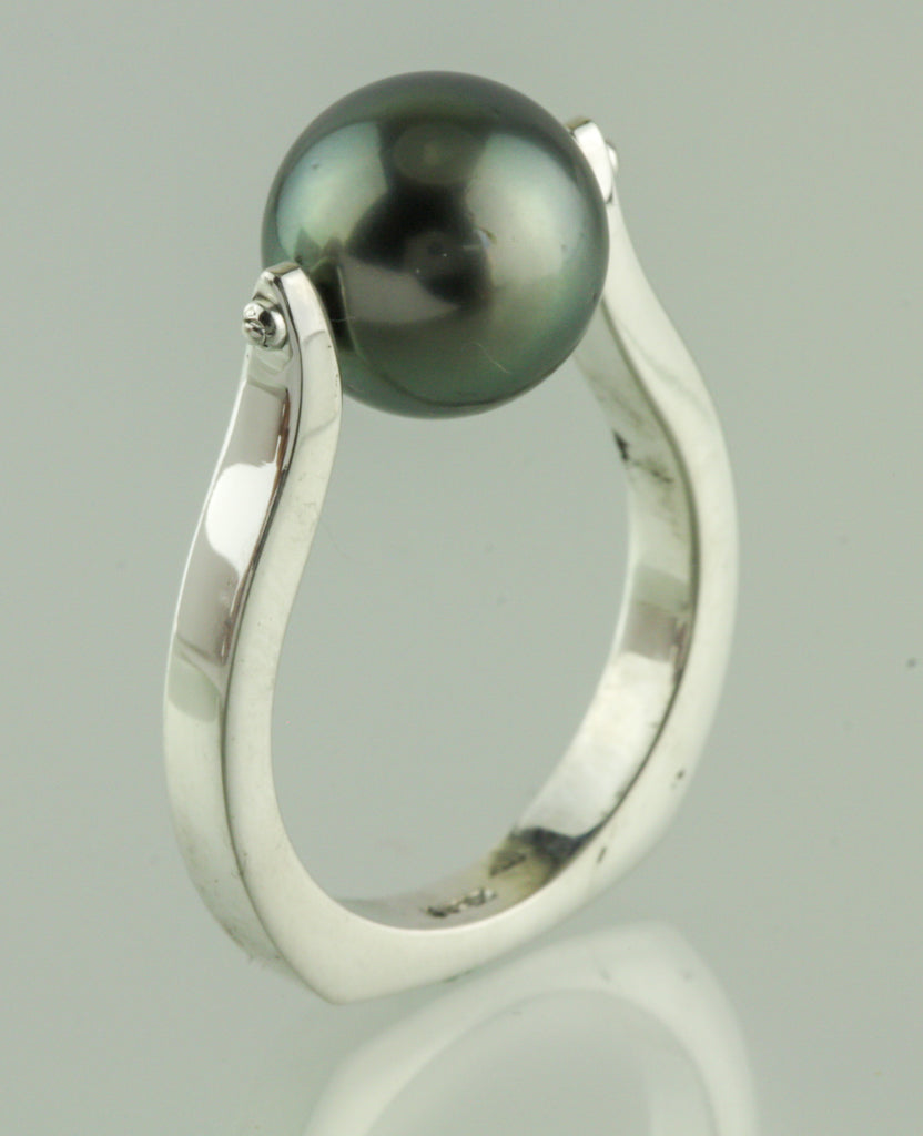 Cook Island South Sea Pearl Sterling Ring