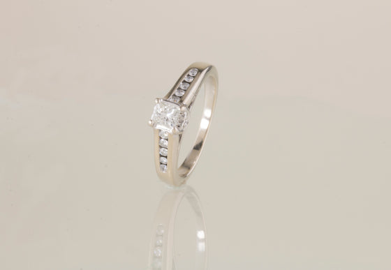 1/2 ctw Diamond 14kt White Gold Ring