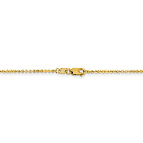 Leslies 14kt Yellow Gold 1.4 mm Flat Cable Chain
