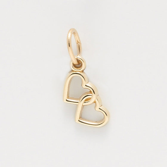 14kt Gold Two Hearts Charm #4512