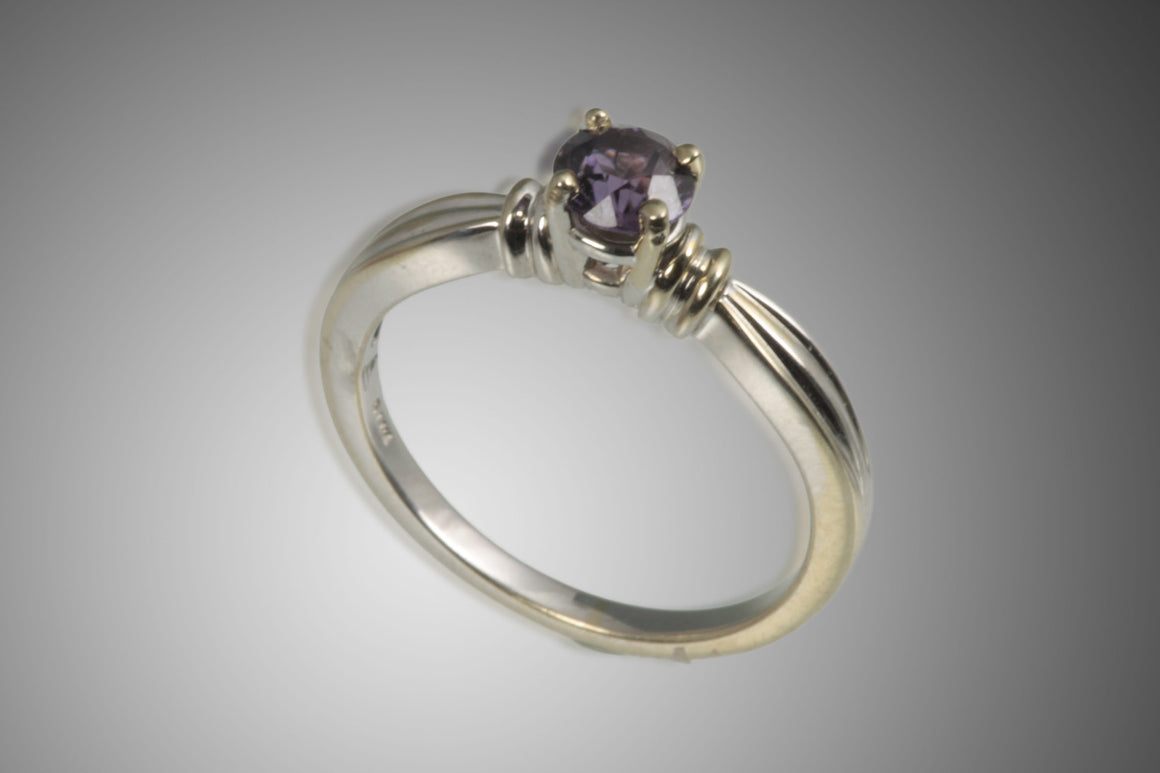 Purple Sapphire 14kt White Gold Ring .69CT