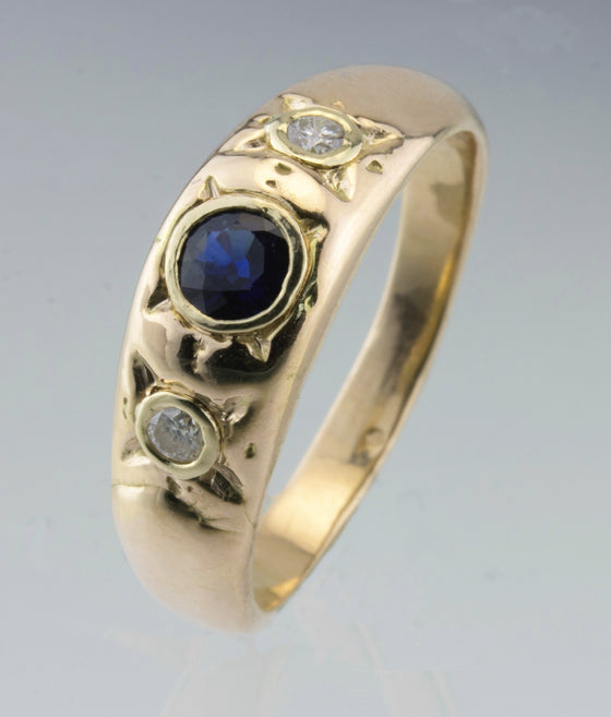 Sapphire and Diamond 14kt Yellow Gold Ring