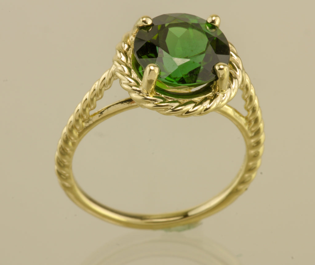 Green Tourmaline 14kt Yellow Gold Ring