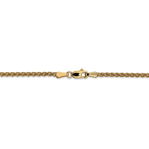 Leslies 14kt Yellow Gold 2.1mm Wheat Chain