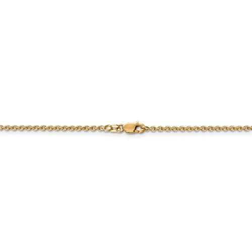 Leslies 14kt Yellow Gold 1.95 mm Flat Cable Chain