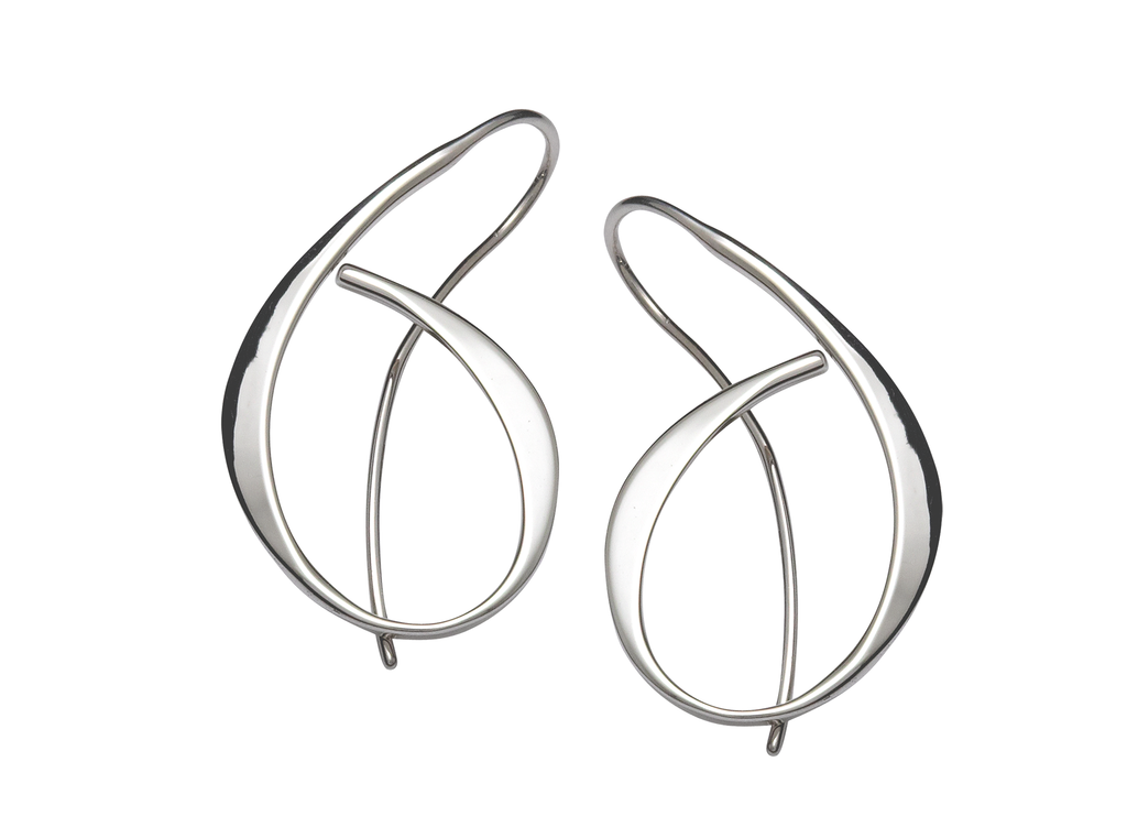 Ed Levin Sterling Silver Allegro Earrings
