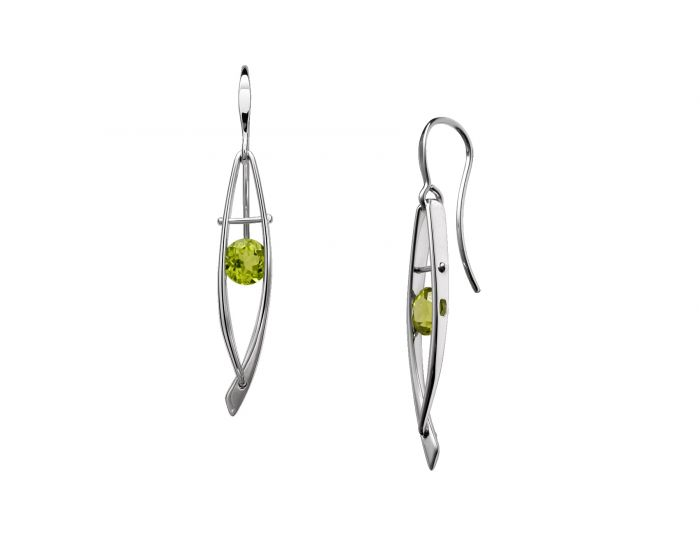 Ed Levin Sterling Silver Ascend Gemstone Earrings