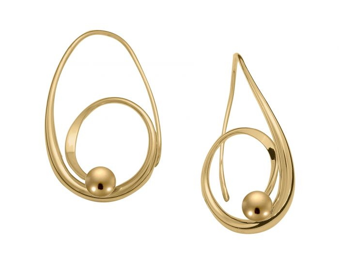 Ed Levin 14kt Gold Bindu Earrings