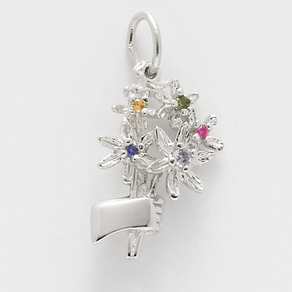 Sterling Silver Bouquet with Beads Charm #4507