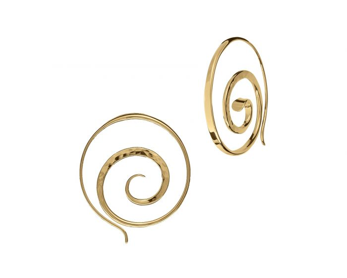 Ed Levin 14kt Gold Crop Circle Earrings