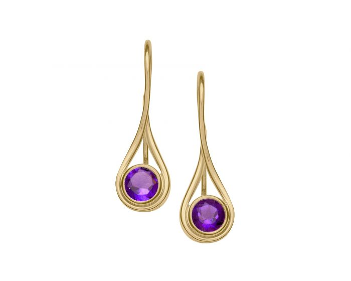 Ed Levin 14kt Gold Desire Gemstone Earrings